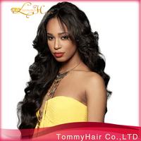 Free shipping!12-26 inch 1B# top quality Brazilian virgin hair body wave U Part wig & customer virgin hair u part full lace wig