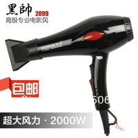 Free shipping Black professional hair dryer 2000w high power hair dryer hair-dryer