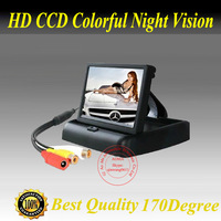 Free shipping 4.3inch stand security TFT monitor car rear view camera with high resolution and digital panel