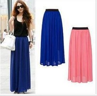 22 original European style / chiffon / retro / elegant / put on a large half-length skirt summer high waist skirts