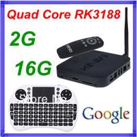 [ Rii mini i8 Keyboard Air Mouse ] MINIX NEO X7 Android TV Box Quad Core Mini PC 1.6GHz 2G/16G HDMI USB RJ45 OTG XBMC