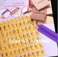 wholesale-on sales Alphabet Numbler letter cookie biscuit stamp embosser cutter cake fondant DIY MOLD