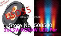 10pcs/Lot, 3 x 15W RGBAW Tint 5-in-1 LED Par 38 Light LED Flat Par Light Disco Stage