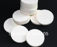 50x7mm white and skin color  SBR  round powder puff,  makeup sponge, facial  puff, cosmetic sponge