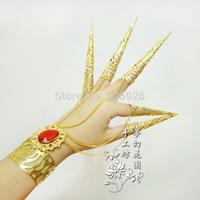 Cos armor  accessories bracelet long finger sets silver /golden accessories dactylotheca 2pcs/lot
