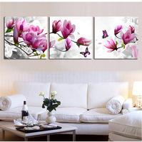 3pcs/set Factory Promotion 45*50CM*3pcs 3D Easy Stitch DIY Pink Magnolia Flower Butterfly DIY Embroidery Cross Stitch kits