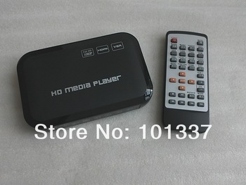 Free shipping!3D Full HD 1080P USB External HDD Media Player with HDMI VGA SD MKV H.264 RMVB WMV,Support SD/MMC Card up to 32GB