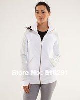 lulu jacketsscuba Lady Sport Athletic Jacket yoga wear coat Women's hoodies fashionable  clothes white color 603