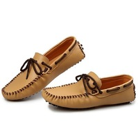 2013 New men's flats popular loafers fashion trend  male soft 100% cowhide casual shoes cheap wholesale