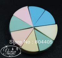 Round 8 colors per set  makeup puff, cosmetic powder puff, facial puff, cosmetic sponge 10set /lot