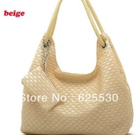 Hot sell!! 2012 lady fashion totes, with pu leather,black,white,pink,brown,red, free shipping,quality guarantee