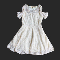 shij117 wholesale teenage girls dresses 5pcs/lot 7~16age pearl collar lace girls dresses christmas supernova sale
