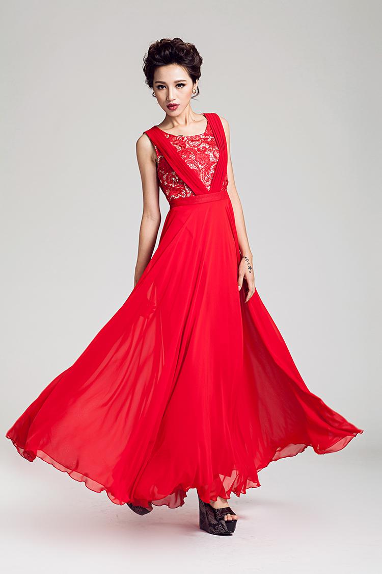 Womens Plus Size Red Evening Dresses - Long Dresses Online