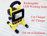 HK Post Freeshipping LED working lamp rechargable led flood light, IP65 waterproof car light charger LED portable emegency light