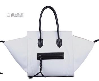 2013 fashion genuine leather cowhide smiley bag women designer handbags illusiveness wings famous brand handbag free shipping