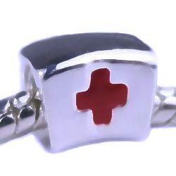 Min order $10 free shipping 925 Silver Bead Charm European medic cross + Alloy Bead Fit Bracelets & Bangles H342 Wholesale(China (Mainland))