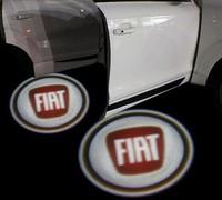 FIAT LOGO car logo lights LED door welcome lights ghost shadow light super brightness freeshipping