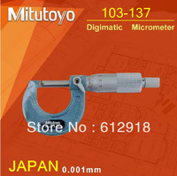 top/(JAPAN) Mitutoyo 103-137 Mechanical Outside Micrometer 0-25mm X 0.01mm  free shipping