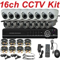 Free shipping cheap sale best 16ch cctv kit cctv system high resolution security camera 16ch DVR network digital video recorder