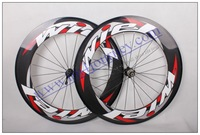 Wiel 700C Carbon Road Wheels Tubular 88MM include skewers+ brake pad + extension valve with High TG Resin