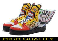 Free shipping Man & Women Jeremy Scott Wings 1 Shoes butterfly wings-grimace jeremy scott wings sneakers js wings shoes