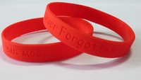 Custom Deboosed Silicone Wristbands, 100pcs per Lot, Order Delivered On Time!