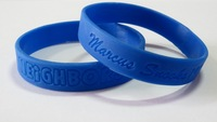 Lowest Price Guaranteed! 100pcs/lot Custom Deboosed Silicone Wristbands, For Business Promotions