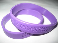 Custom and Personalized 500pcs/lot  Debossed Silicone Wristbands, For School Spirit & Religious Events