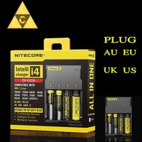 2014 New Nitecore Battery Charger Universal Charger Nitecore I4 Charger + Retail Package +car charging cable+ Mail Free Shipping