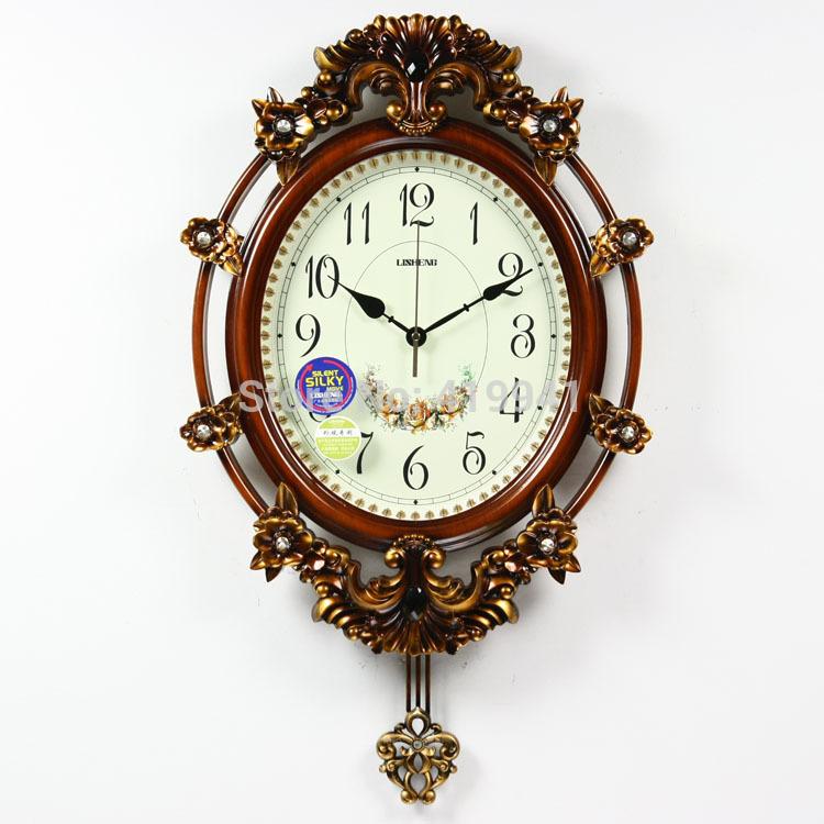 Large fashion living room wall clock home pendulum clock