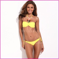 [ BIKINI OUTLET ] Size L 2013 Sexy Yellow Storm Bikini Set Bathing Suit Swimwear for Women Free Shipping