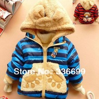 2013 new Baby boys jackets sweater coats children boy girls cartoon fleece winter warm sweater hoody