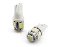 NEW auto light car lamp T10 5SMD white car led bulb led wedge bulb 5W lamp*5PCS free shiping