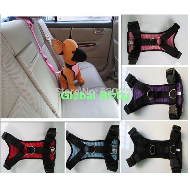 Free Shipping Soft Safety Vehicular and Hand Dual Purpose Nylon Pet Dog Harness(China (Mainland))