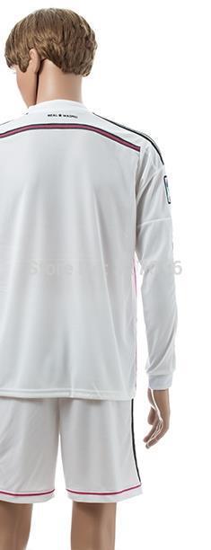 Free shipping-2014/15 Season RMA Home Long Sleeve jersey&short,Soccer team uniforms(China (Mainland))