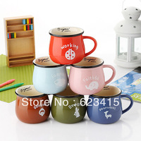 At home ceramic cup thickening mug milk cup breakfast cup glass coffee cup k0735