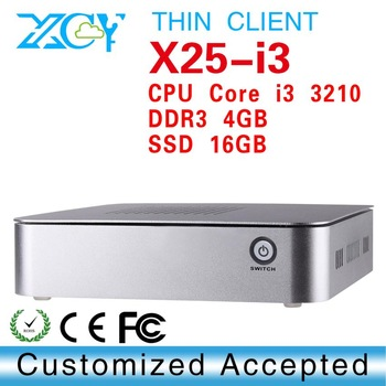 linux embedded thin client desktop pc XCY X25-I3 INTEL core hd graphics card Main chipset