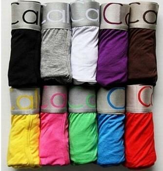 10pcs alot High Quality 22colors Cotton Underwear Man Boxer Shorts 4 Size M L XL XXL  U03