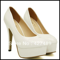 Nibbuns favor korean style solid color sexy high heel pumps women's elegant dress nude shoes S48