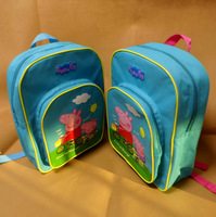 Peppa pig bag Kid children bags preschool students peppa pig  backpack pig lovely blue school bag