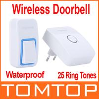 25 Ring Tones Wireless Doorbell Waterproof High-temperature & Low-temperature Resistant Campainha Sem Fio Porta Door Bell