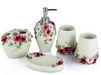 Three-dimensional flowers bathroom set fashion houselinen kit bathroom set