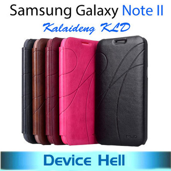 Luxury brand KALAIDENG KLD flip leather case cover cases for Samsung Galaxy Note II 2 N7100 casing Retail Package free shipping