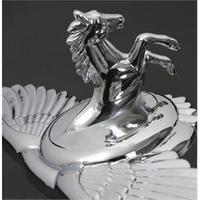 car eagle emblem horse head and eagle wing car luxury 3d stereo badge Dawlish emblem fashion universal car sticker free shipping