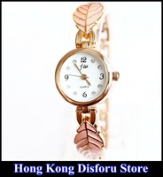 Ms. JW brand new Korean fashion lady watches luxury watches rose gold leaf bracelet watch*Gift Box