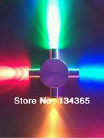 4*1W High power RGB LED wall light 4leds four heads wall fitting cross star light