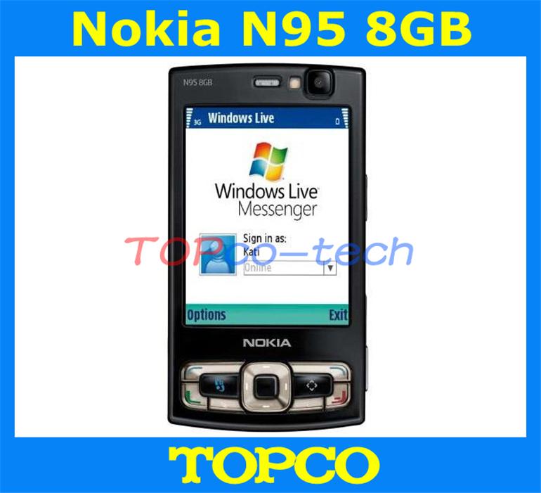 Original Nokia N95 8GB Unlocked mobile phone 3G GSM 5MP Camera 8GB internal storage cell phone WIFI GPS Free shipping(China (Mainland))