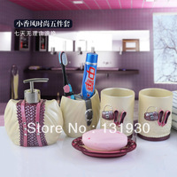 Free shipping 5pcs/set bath set Paris series bathroom set with toothbrush holder+soap box+wash cup+emulsion dispenser Paris-5