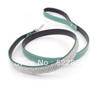 Leads new Dog leash Cat bling bling collar Rhinestone Crystal Diamond Pet Dog Puppy Pu Leather Diamond leash