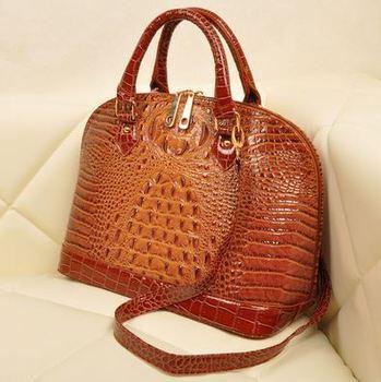 AR453 Sale New 2014 Fashion Brand Leather Women Handbag Crocodile Big Shell Shoulder Bags Women Messenger Bags Q6